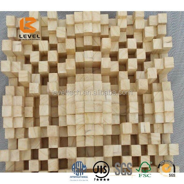 3D Sound Diffuser Wood Acoustic Panel For Wall And Ceiling