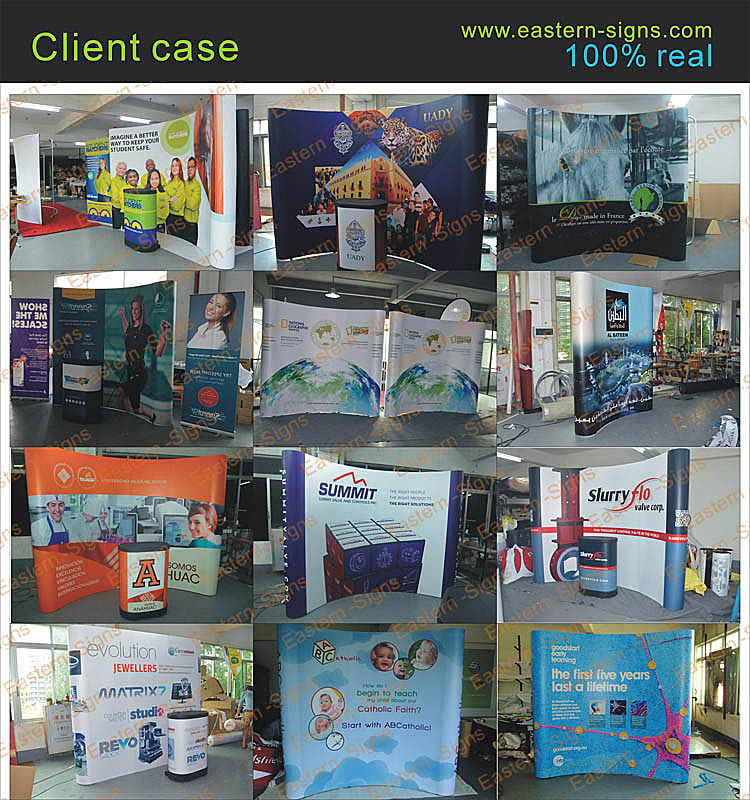 Advertising Straight Magnetic Pop Up Display Corner Suit
