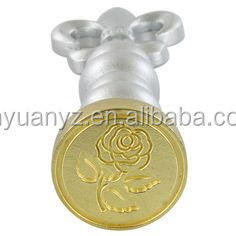 Factory direct sale custom design metal handle rose sealing Wax Stamp set