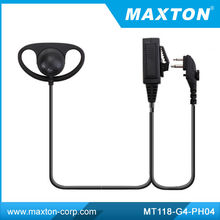 d shape ear hook headset for two way radio HYT TC610 TC518