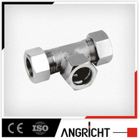 B312 PUSH ON TEE FITTINGS BRASS PNEUMATIC COPPER SWIVEL JOINT TEE FITTINGS