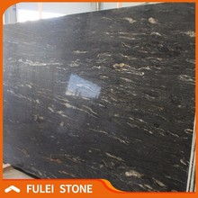 Brazilian exotic black granite slabs brazil cosmic black gold granite