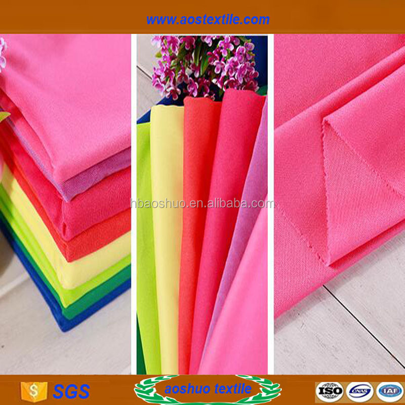 different types of fabrics polyester material lining fabrics price
