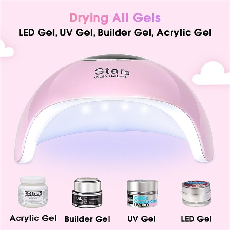 36W UV Led Lamp Nail Dryer For All Types Gel 12 Leds UV Lamp for Nail Machine Curing 30s/60s/99s Timer USB Connector