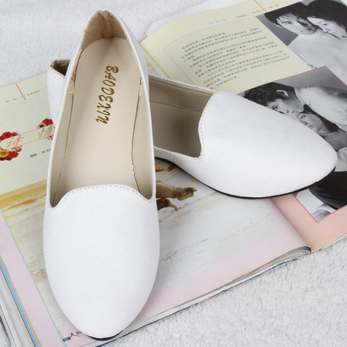 High quality korean design women shoes plus size sweet fancy flat pregnant women shoes