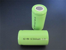 High Performance Sub C size 3000mAh nimh 1.2v nimh rechargeable batteries for wii remote