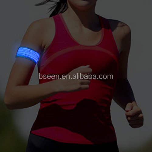 led promotional items 2016 women sport bracelet reflective warm running gear