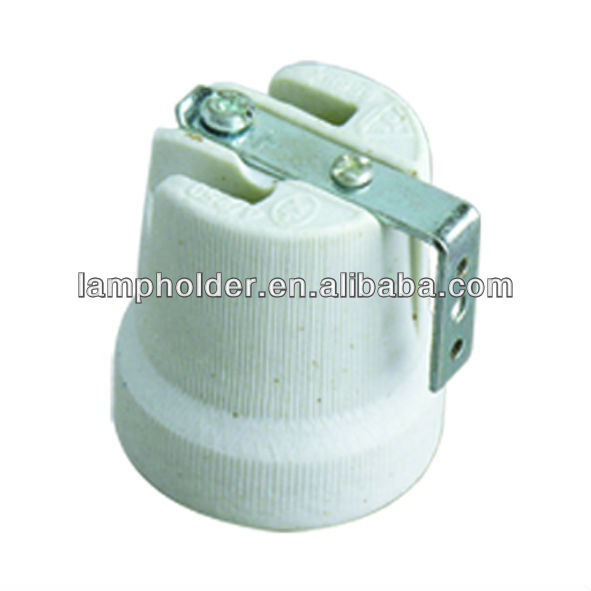F519 E27 Porcelain Lamp socket with the bracket