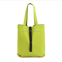Promotional high quality foldable reusable tote shopping bag fruit carry bag with custom logo