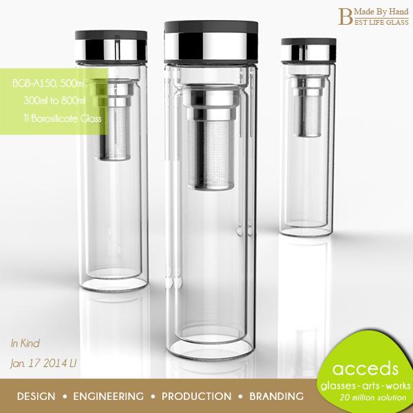 Best Water Filtration System >> Fashional Pyrex Glass Fruit Infuser Water Bottle - Buy Fruit Infuser Water Bottle,Borosilicate ...