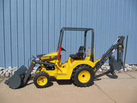 small garden tractor loader backhoe