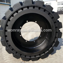 solid rubber mini skid steer loader tire 10-16.5 12-16.5 for used mini skid steer loader