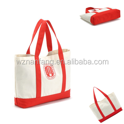 Fashion Style Organic Recyclable Shopping Cotton Canvas Tote Bag