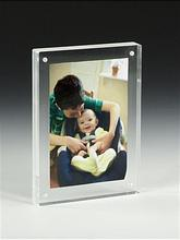 clear acrylic frameless 6X8 funny photo picture frames