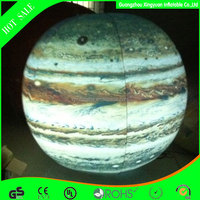 USED commercial inflatable Jupiter with led lighting planet balloon for advertising decoration