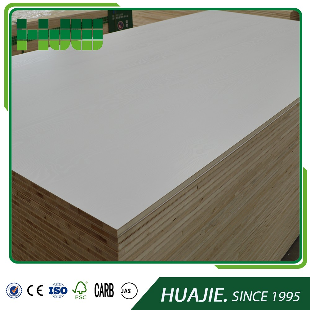 china15mm furniture fancy white gloss melamine block board factory