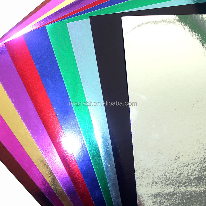 Colorful gift wrapping DIY metalized paper cardboard metallic paper