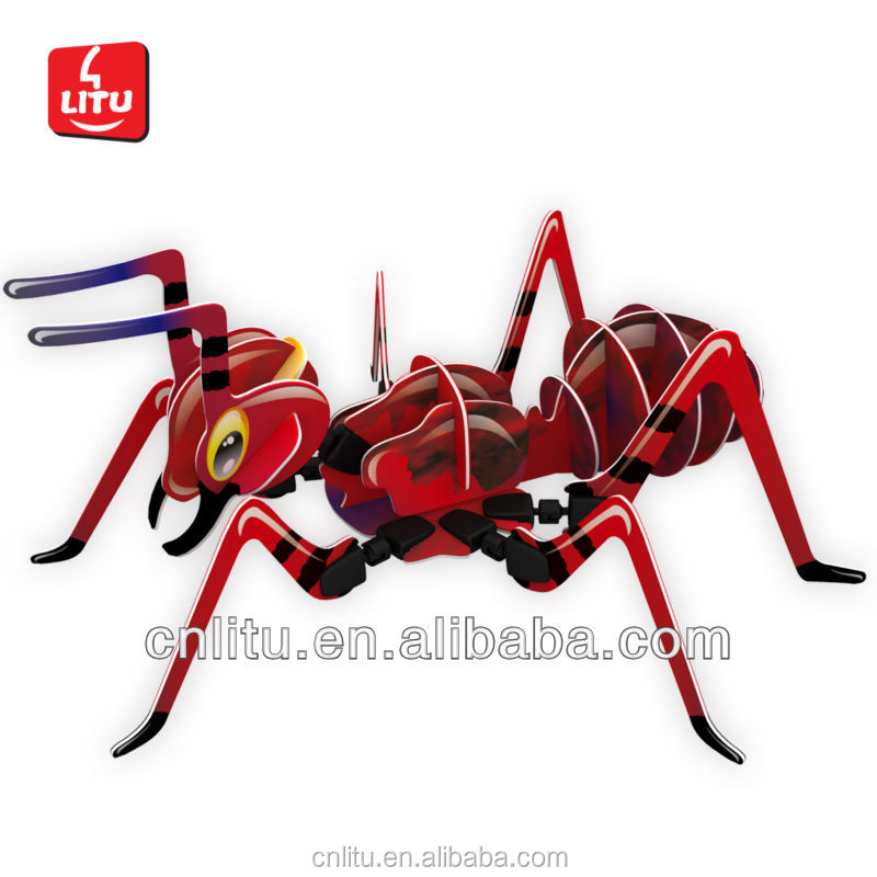 9611 3D PUZZLE ANIMAL TOYS INTELLECTUAL GAME TOYS DIY ANIMAL PUZZLE MODEL ANT PAPER CRAFT