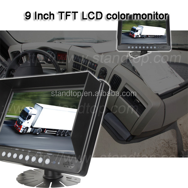 9 Inch Split Monitor car dvd player with digital tv Monitor