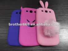 top quality colorful rabbit silicone phone cover