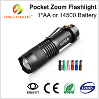 Manufacturer Wholesale Aluminum Tactical Cheap Zoom Dimmer High Power Best Small Mini Cree Led Flashlight Torch Light