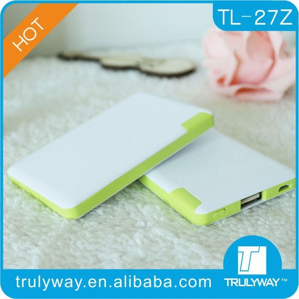 2016 promotional travel gifts 2400 mah battery power bank credit card power bank