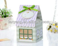 Patisserie Large Cute Cupcake Cake Box house gift box ribbon label tag shutter