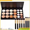 20 Colors Makeup Face Cosmetic Concealer Palette and 10 Pcs Makeup Brushes Kit Set