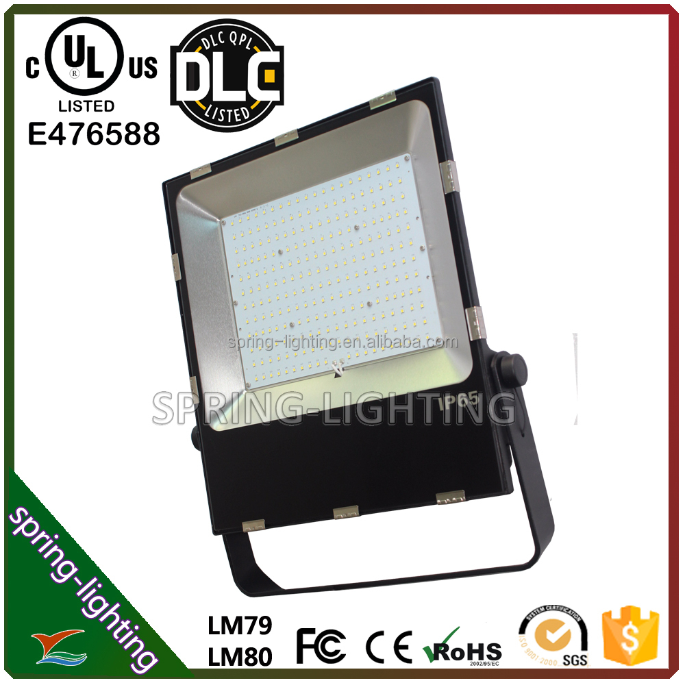 Factroy Price SAA UL cUL DLC listed Thin 200W super bright LED Flood Light 5 years warranty