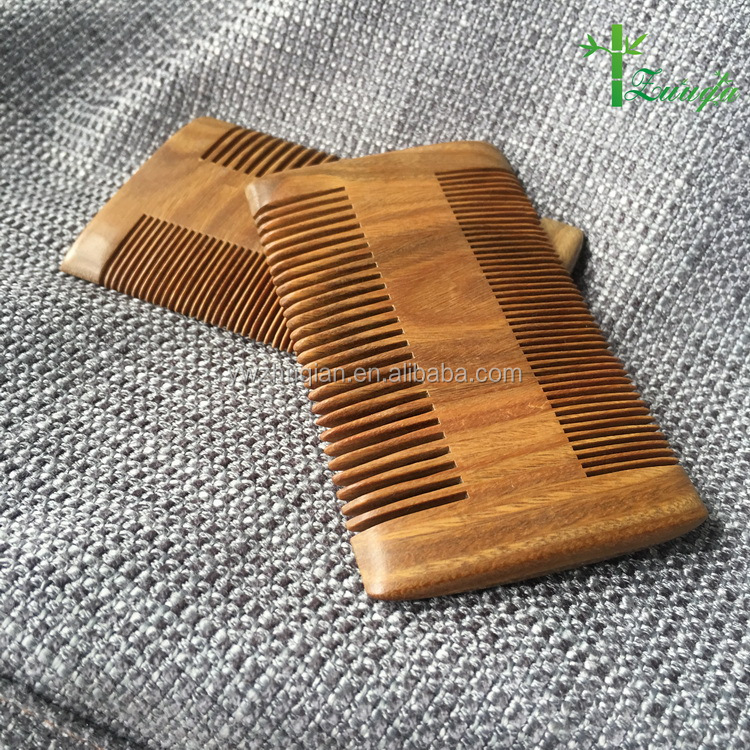 Amazon custom logo pocket pure nature sandalwood wooden beard comb