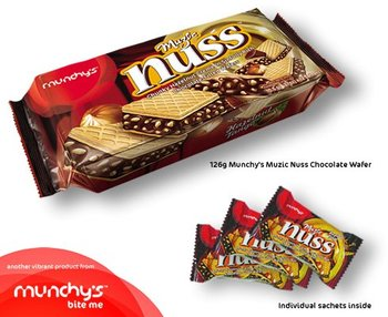 Munchy's Muzic Nuss Chocolate Wafer 126g