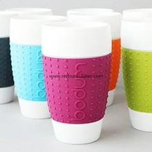 silicone sleeve for ceramic cup