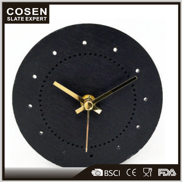 High Quality Slate Stone Photo Frame Insert Clock