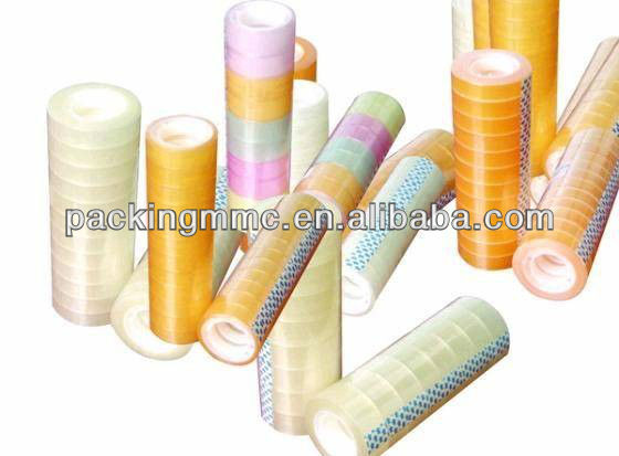 2016 star product!!! BOPP stationery tape, water acrylic adhesive hot melt adhesive