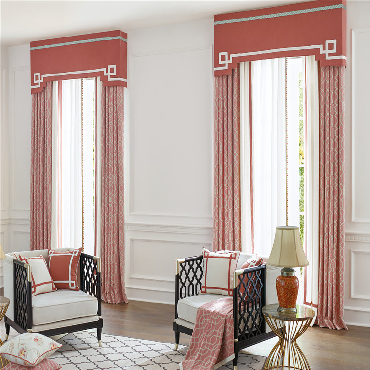 Manufacture factory simple beautiful royal valance curtain patterns