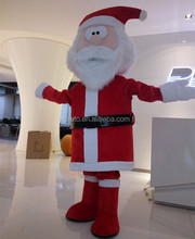 Good quality cartoon characters fancy dress,adult father christmas mascot costume for sale