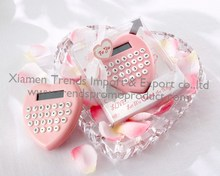 Mini cute heart shape colorful calculator for festival giveaways Wedding gifts valentine gifts new idea