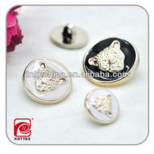 animal logo wonderful design fashion plastic button for garment