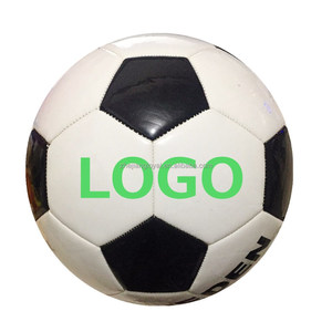 2016 custom logo pvc leather promotional training sports football