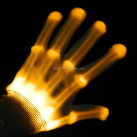 Flashing led gloves,glowing light up gloves