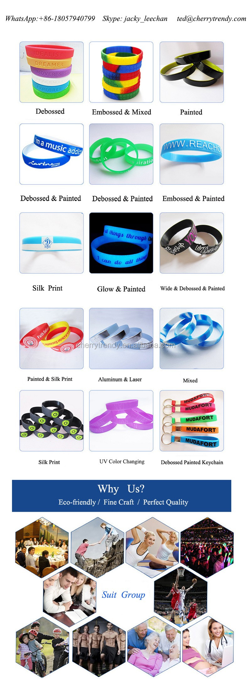 Thin Blue Line Silicone Wristband For Blue