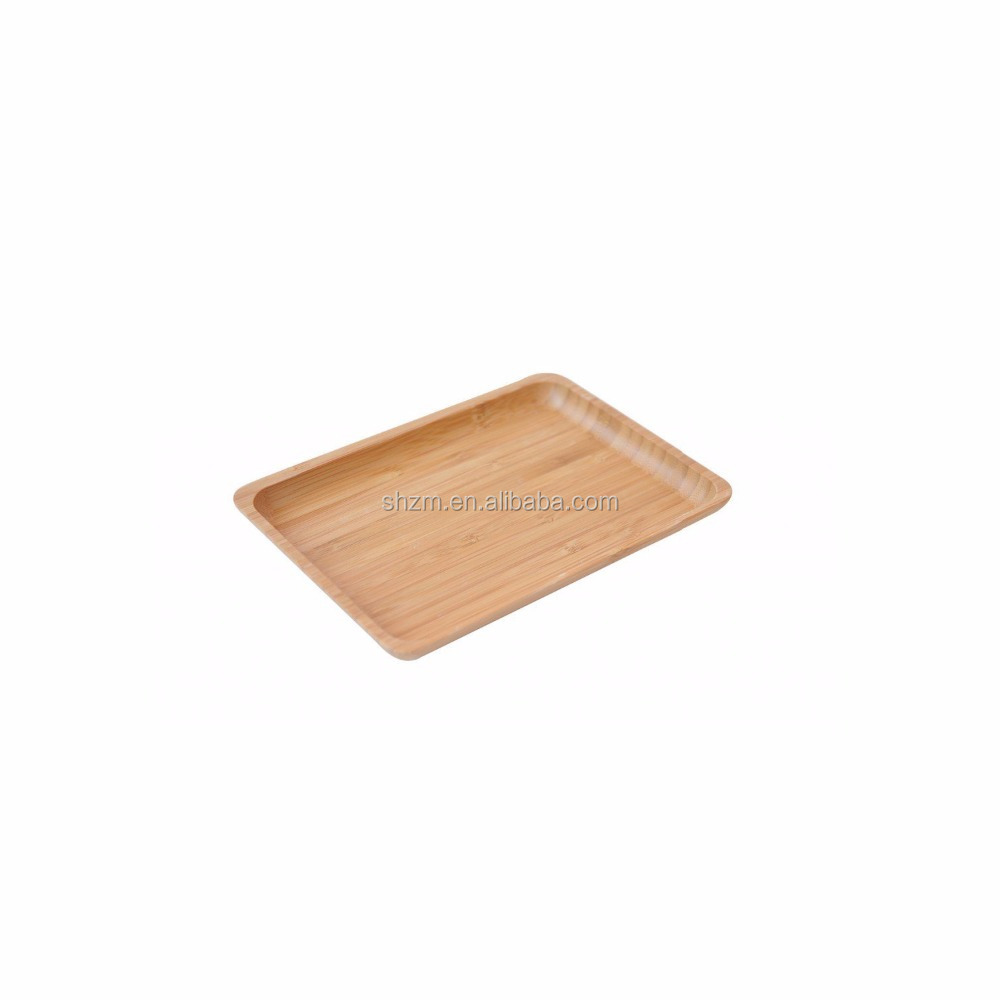 High Quality Modern Bamboo Snack and Breakfast Bamboo Wood Food Serving Tray