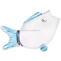 2016 new design hot selling wholesale unique decorative fish shaped clear glass fish bowl