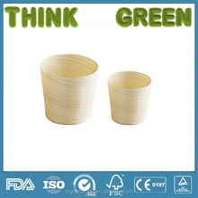 biodegradable and compostable disposable for distributor wooden cups