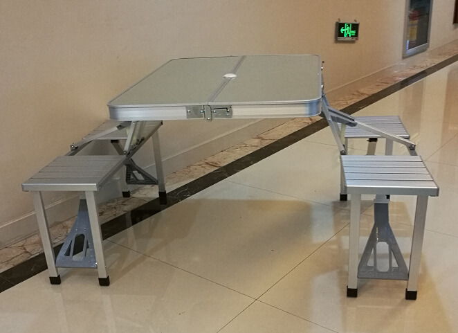 Aluminum ladder folding table