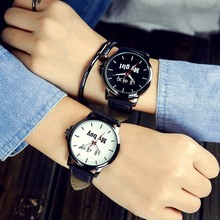 Wholesale China Fashion Man Leather Watch Simple Girls Womans Quartz Watches wh3017