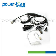 Two-way Radio Headset with 3 wire Surveillance Kit work for Security,SWAT.