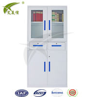 commercial office furniture steel glass door filing cabinet