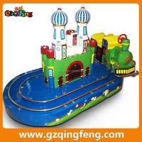 Qignfeng coin operated mini train type indoor model train games for kids
