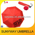 540mm*8ribs red automatic foldable umbrella with large logo
